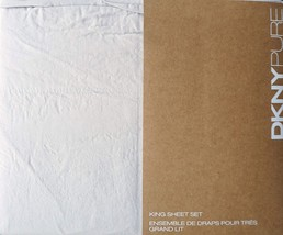 DKNY Pure Garment Washed Light Gray Cotton Sheet Set King - $106.00
