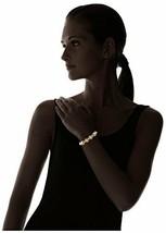 Neuf nOir Plaqué Or Bâtons Et Perle Fantaisie Bracelet Nwt image 2