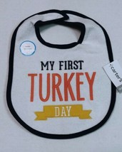 Carter's Thanksgiving Bib My First Turkey Day Extra Large One Size Fits All - $8.00
