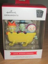 Hallmark Nightmare Before Christmas Schloss, Stoßdämpfer, & Fass Ornament Neu - $15.71