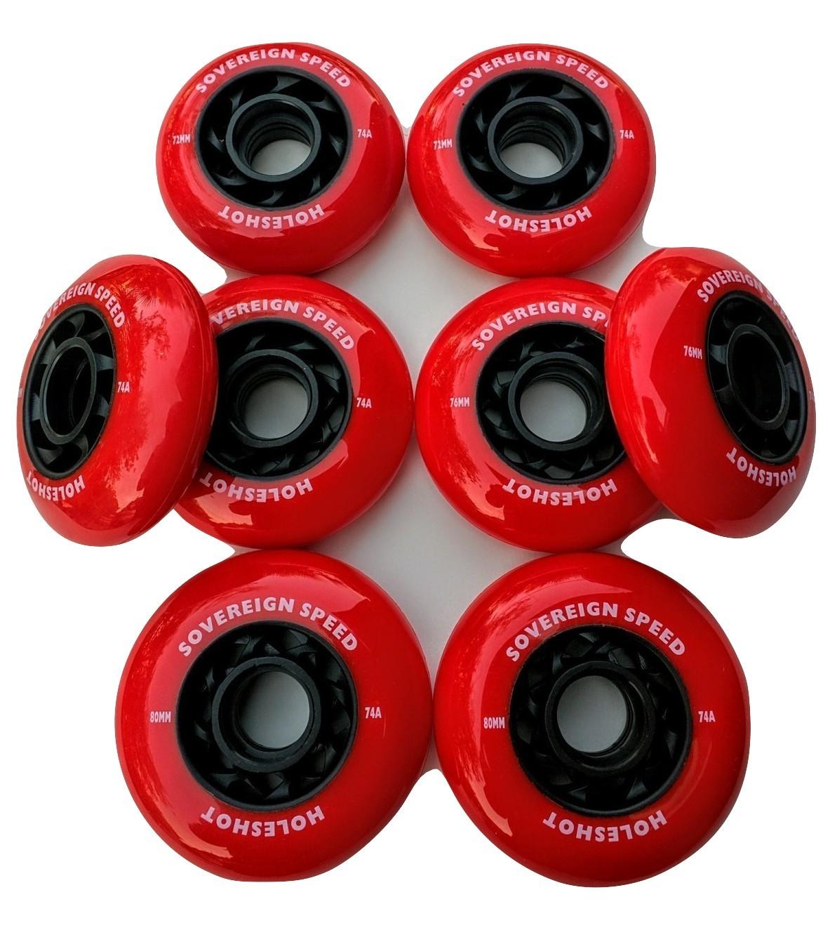 8x 80mm INDOOR Inline Rollerblade Roller Hockey Skate Wheels 74A sport court