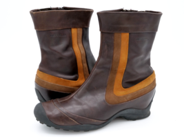 Merrell Womens 9.5 Eden Mid Multi Brown Leather Mid Calf Boots EUR 40.5 - $49.99