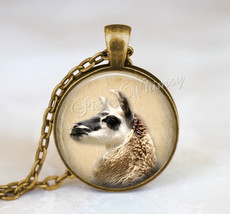 LLAMA Pendant Necklace, Llama Photo Art Jewelry, Gift for Llama Lover Ow... - $11.95