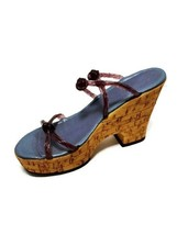 Just The Right Shoe Cork Wedge By Raine ©1999 - $11.29