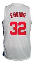 Julius Erving New York Nets Aba Retro Basketball Jersey New Sewn White Any Size image 2