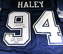 Charles Haley - Nfl Hall Of Fame - Hand Signed Dallas Cowboys Custom Jersey Coa - $128.65