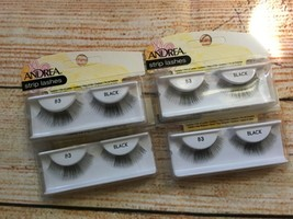 Andrea Strip lashes false 83 Black eyelashes LOT of 4 pairs New - $10.39