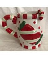 Cracker Barrel Ceramic Christmas Embossed Sweets & Treats Mug & Spoon Se... - $14.84