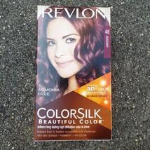 Revlon Colorsilk 48 Burgundy Permanent Hair Dye 3DColor Tech 100% Gray C... - $7.73