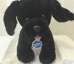 Build A Bear Promise Pets Black Lab Dog Puppy with Collar and Tag Clean ... - $19.79