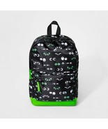 Cat & Jack Google Googly Eyes Backpack Knapsack Black Green - $16.99