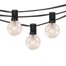 25Ft Outdoor Patio String Lights with 25 Clear Globe G40 Bulbs,UL Certif... - €17,39 EUR