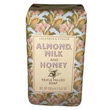 Crabtree & Evelyn Almond Milk and Honey Triple Milled Bar Soap 5.57 oz. New  - $22.67