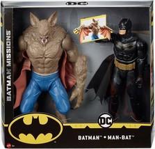 Batman Missions Batman Vs. Man-Bat, 2-Pack Action Figures, Hero vs. Villain Play - $33.88