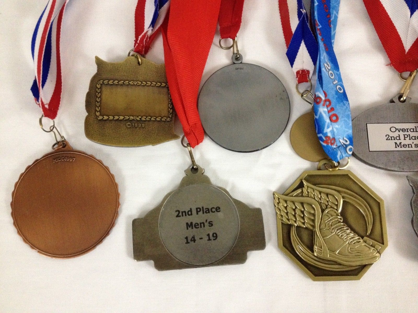 Lot of 14 Running Race Medals Medallions Awards From Various Events image 8