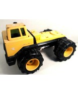 "VINTAGE TONKA TOY TRUCK TRACTOR TRAILER CAB METAL YELLOW BLACK 15"" X 8.5"" - $12.95"