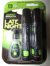 SWEET BREATH MINT MOJITO LATE NIGHT Oral Spray 24 Double Packs + Bonus L... - $46.50