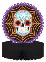 Day of the Dead Halloween Skull Honeycomb Centerpiece - $7.99