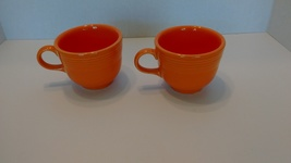 Fiesta Lot of 2 Tangerine Teacups 7 3/4 ounces - $8.99