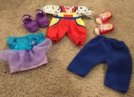 Cabbage Patch Kids Clothes Lot Of 5 Items Romper Pants 2 Shoes Dress - $6.00