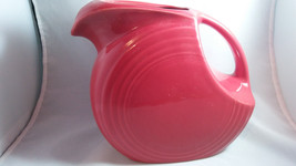 Fiesta Ware Large Disc Pitcher Scarlet Red MPN 484 - $25.74