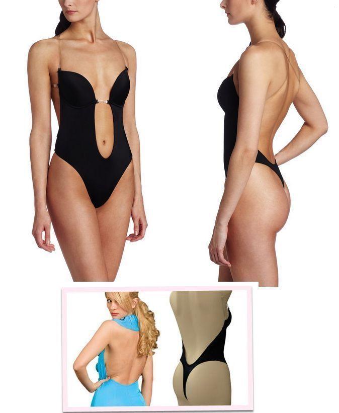 287e02fa8ab9 ... Forms U Plunge Bra Bikini backless Full body shaper Jumpsuits Bodysuit  Shapewea ...