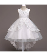 Formal White Dress For Girls Flower Girl Pageant Birthday Party Princes... - $59.99