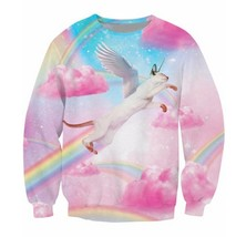 2018 Wholesale Fly High Kitty Crewneck Sweatshirt rainbow cotton candy c... - $43.86