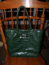 Anne Klein Green Med Tote Shopper Handbag  EUC - $25.73