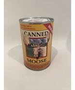 "Canned Critter Stuffed Moose 6"" Tall Cute Plush In A Can A21E - $13.95"