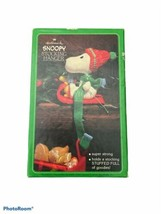 Vintage Hallmark Snoopy & Woodstock Stocking Hanger w/ Box Christmas - $29.69