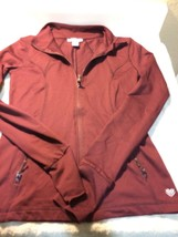 FOREVER 21--WOMENS ZIP UP TOP / JACKET--SIZE XS--BURGUNDY---FREE SHIP--VGC - $22.38