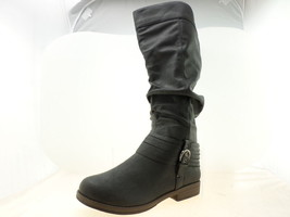 Journee Collection Women Debi Tall Boots Black Size 10 - $34.64