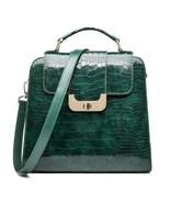 Luna - Women's Green Leather Shoulder Bag Handbag Crossbody Designer New QW9203 - $320.00