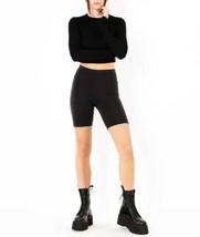 Cotton Citizen Womens Milan W4186112 Biker Shorts Caviar Black S - $56.00