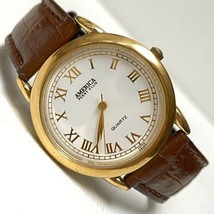 Vintage America Perry Ellis Women's Gold Plated Minimalist Watch APE1387... - $24.70