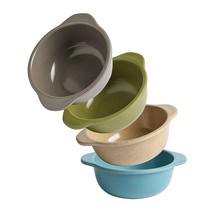 Safe Stackable (4 Pack) Authentic Bamboo Baby Toddler Bowls Dinnerware N... - $24.99
