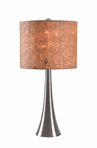 Kenroy Home Casual Table Lamp, 20 Inch Height with Brushed Steel Finish - $89.55