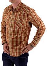 NEW NWT LEVI'S MEN'S LONG SLEEVE BUTTON UP CASUAL DRESS SHIRT ORANGE 3LYLW211 image 3