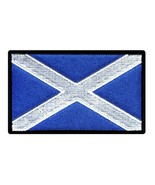 """SCOTLAND FLAG IRON ON PATCH 3"""" Embroidered Applique Scottish St Andrews ... - $5.99"""