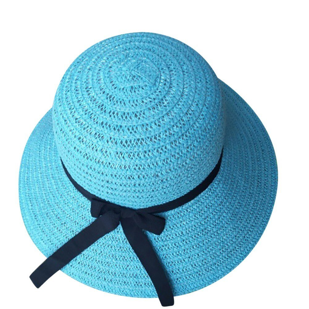 sun hats for women summer visor hat Floppy Foldable Ladies Straw Beach Wide Brim image 2