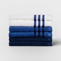 6pk Solid Washcloth Set - Glisten Blue - Room Essentials - OKEO-TEX TEST... - $8.72