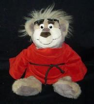 2003 REAL TALKIN BUBBA TEDDY BEAR STUFFED ANIMAL PLUSH TOY WEARING RED COAT - $28.05