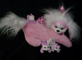 2014 JUST PLAY PUPPY PINK SURPRISE DOG W/ 5 BABY PUP STUFFED ANIMAL TOY ... - $31.09