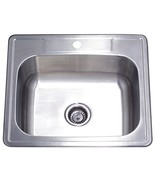 Kingston Brass GKTS252281 Studio Self Rimming Single Bowl Kitchen Sink, ... - $81.99