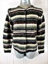 CROFT & BARROW womens Large petite L/S button up HEAVY cardigan SWEATER ... - $22.99
