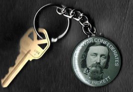 "GEORGE PICKETT Key Chain 1.50"" Civil War Confederate Generals Keychain - $5.88"