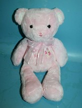 """Carters Just One Year MY FIRST TEDDY BEAR 11"""" Rattle Pink Plush Baby Sof... - $29.00"""
