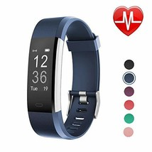 LETSCOM Fitness Tracker HR, Activity Tracker Watch with Heart Rate (Blue 1) - $42.89