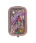 Ivenf Rose Golden Castle & Flower Square Vintage Compact Purse Mirror, C... - $16.49